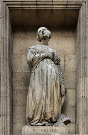helena: Saint Helena, Madeleine church in Paris Stock Photo