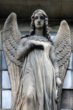Guardian angel, Madeleine church in Paris photo