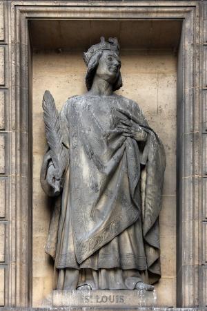 ix: Saint Louis IX of France, Madeleine church in Paris Stock Photo