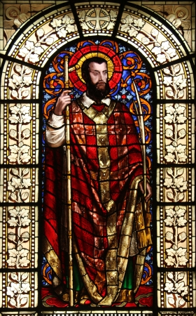Saint Dionysius , stained glass, Saint Vincent de Paul church, Paris