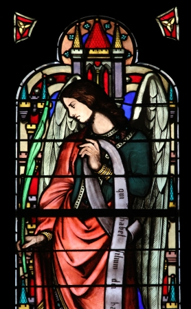 Angel, stained glass window from Saint Germain-l Auxerrois church, Paris