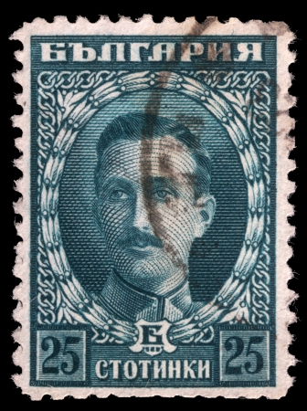 boris: BULGARIA - CIRCA 1922  A stamp printed in Bulgaria shows portrait of Tsar Boris III  1894-1943 , circa 1922