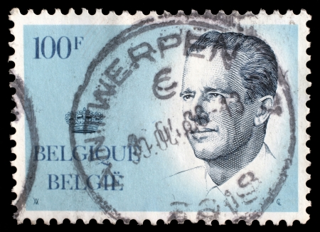 constitutional: BELGIUM - CIRCA 1970s  A stamp printed in BELGIUM shows image portrait Albert II is the current King of the Belgians and a constitutional monarch, circa 1970s