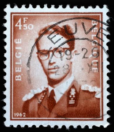 baudouin: BELGIUM - CIRCA 1970  A stamp printed in Belgium shows King Baudouin,  Marchant  ; type, circa 1970