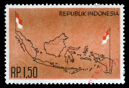 INDONESIA - CIRCA 1963  stamp printed by Indonesia, circa 1963