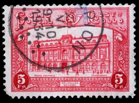 bruxelles: BELGIUM - CIRCA 1929  stamp printed by Belgium, shows Bruxelles, circa 1929 Editorial