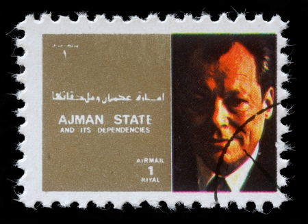 willy: AJMAN - CIRCA 1973  stamp printed by Ajman shows Willy Brand, circa 1973
