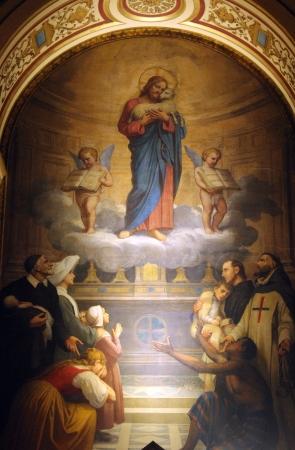 sainthood: Jesus good shepherd , Church of the Holy Trinity, Paris