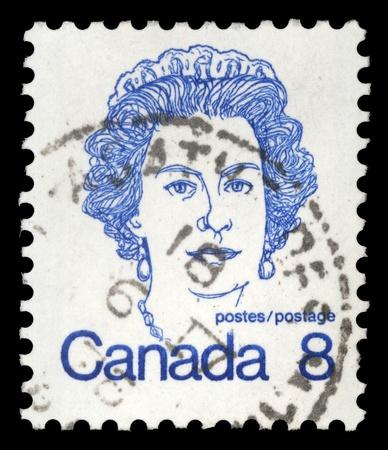 CANADA - CIRCA 1972  A stamp printed in Canada shows Queen Elizabeth II, circa 1972