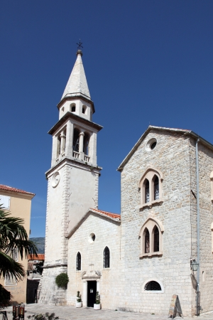 budva: Church of the Saint John the Baptist, catholic church in Budva, Montenegro