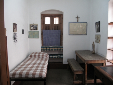 The former room of Mother Teresa at Mother House in Kolkata, West Bengal, India on Jan 12,2009
