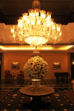 Oberoi Grand Hotel formerly known as the The Grand Hotel, is situated in the heart of Kolkata on Jawaharlal Nehru Road  It is an elegant building of British era and is a famous building in Kolkata, on Nov 24, 2012 in Kolkata, India  Stock Photo - 22434043