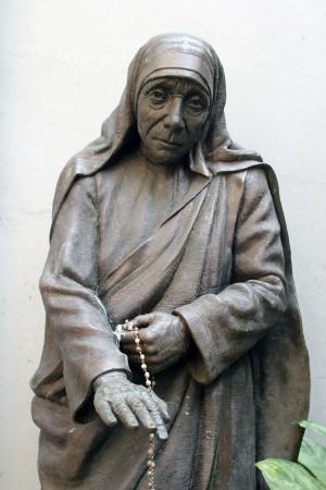 calcutta: Statue of mother teresa in Mother house, Kolkata, India