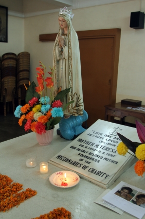 Tomb of Mother Teresa in Kolkata, West Bengal, India on Nov 26,2012