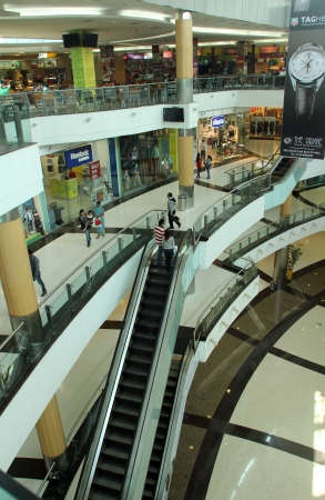 South City Mall is an enclosed urban food court, shopping mall and office building on Nov 26, 2012 in Kolkata, India