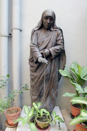 nobel: Statue of mother teresa in Mother house, Kolkata, India