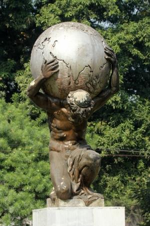 Statue of Atlas  Фото со стока