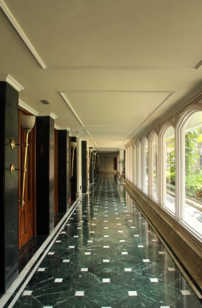kolkata: KOLKATA, INDIA - NOV 24  Oberoi Grand Hotel formerly known as the The Grand Hotel, is situated in the heart of Kolkata on Jawaharlal Nehru Road  It is an elegant building of British era and is a famous building in Kolkata, on Nov 24, 2012 in Kolkata, Indi