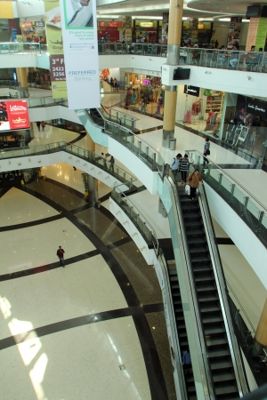 food court: South City Mall is an enclosed urban food court, shopping mall and office building on Nov 26, 2012 in Kolkata, India