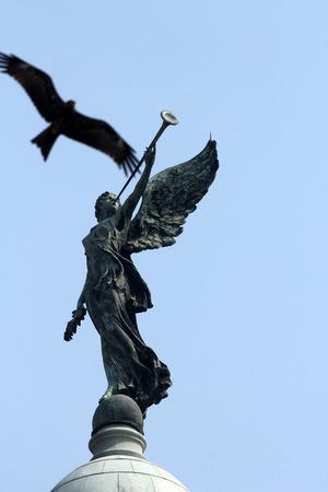 calcutta: Angel of victory atop the dome of Victoria Memorial, Kolkata, India Stock Photo