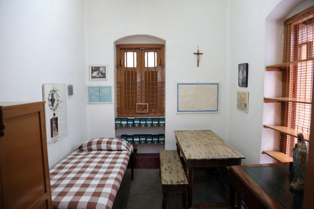 The former room of Mother Teresa at Mother House in Kolkata, West Bengal, India on February 07,2014