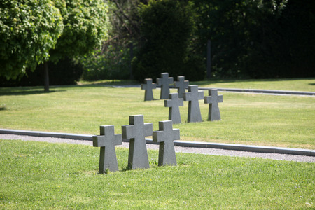 German Military Graves, Mirogoj graveyard in Zagreb - Croatia photo