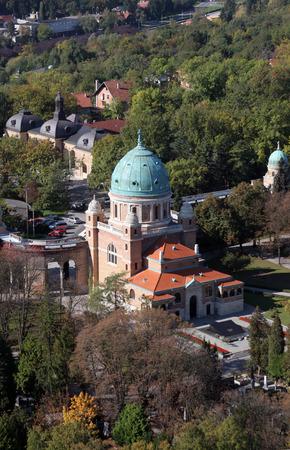 Mirogoj cemetery in Zagreb  Croatia  photo