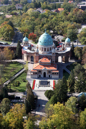 Mirogoj cemetery in Zagreb  Croatia  photo