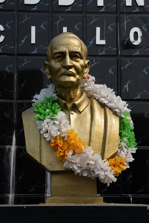 eminent: Monument of Girish Chandra Bose on February 10, 2014 in Kolkata, India  Girish Chandra Bose was the eminent educationist and great Social Reformer