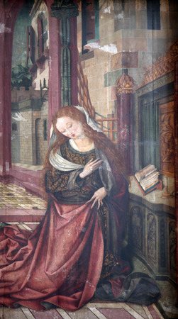 annunciation of mary: Virgin Mary, The Annunciation, Church of Our Lady in Wurzburg