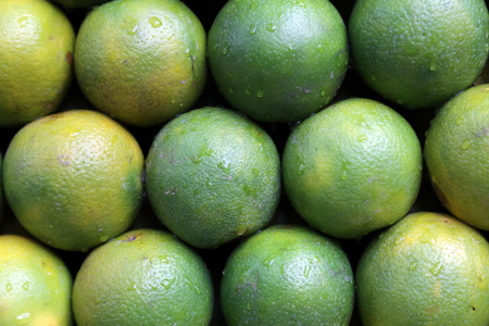 Asian farmer s market selling fresh fruits photo