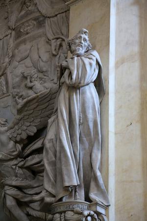 urbanistic: Statue of Saint in the church of Saint Vitale  Parma  Emilia-Romagna  Italy Editorial