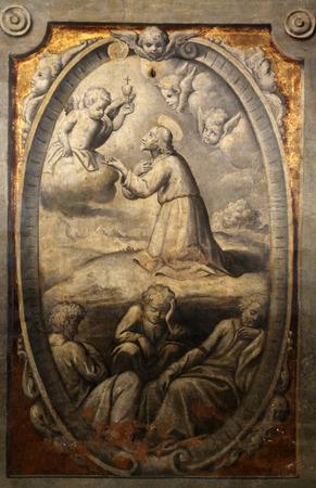 Agony in the garden, by Parmigianino in the Basilica of Santa Maria della Steccata, Parma, Italy
