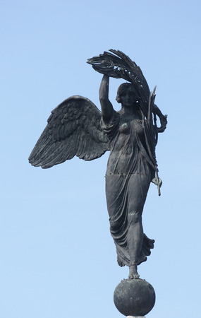 sculpt: Angel of Victory, Parma, Italy Stock Photo