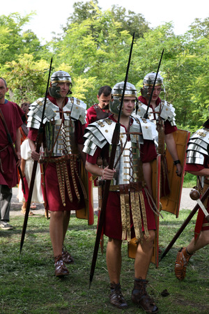 Dionysus festivities in Andautonija, ancient Roman settlement near Zagreb, Croatia on Sep 15, 2013