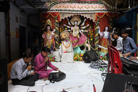 worshipped: Goddess Durga on February 08, 2014  Goddess Durga is popular amongst Hindu Bengalis, and is worshipped with enthusiasm by her devoted followers