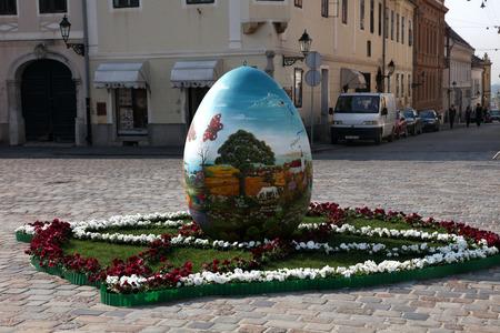 giant easter egg: Giant Easter egg, Zagreb, Croatia