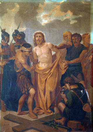 10th Stations of the Cross, Jesus is stripped of His garments Editoriali
