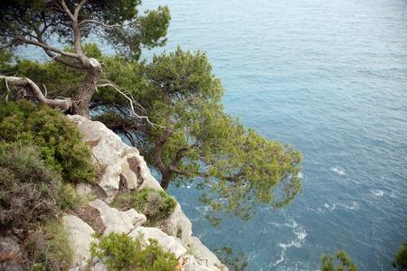 Pictorial blue Adriatic sea
