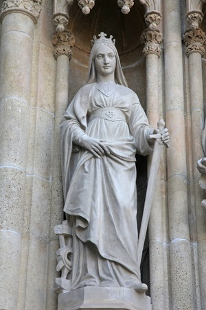 Saint Catherine of Alexandria, Portal of the Zagreb cathedral photo