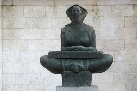 ubiquitous: History of the Croats sculpture of a woman, Zagreb, Croatia Stock Photo