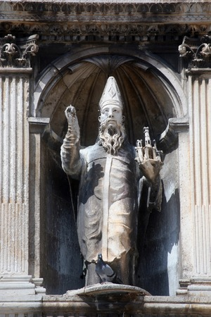 patron: St  Blaise patron of Dubrovnik Stock Photo