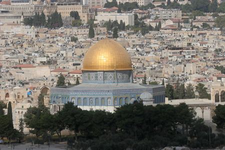 Old Jerusalem  Golden Mosque - Dome on the Rock photo
