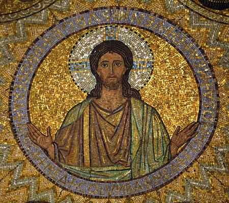 episcopal: Jesus, mosaic, Jerusalem-The Church of Hagia Maria Zion-The Dormition Church
