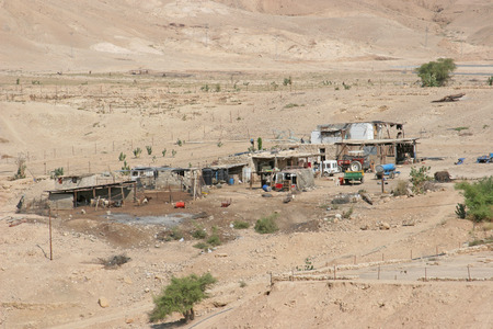 judea: Village in Judea desert, Israel Stock Photo