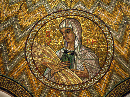 Ruth, mosaic, Jerusalem-The Church of Hagia Maria Zion-The Dormition Church