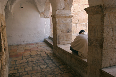 synagogues: Courtyard at Mount Zion, Jerusalem, Israel