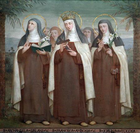 bl: Bl  Archangela Girlani, Frances d Amboise and Joan of Toulouse, Carmelite Saints, The Church Stella Maris, Haifa, Israel