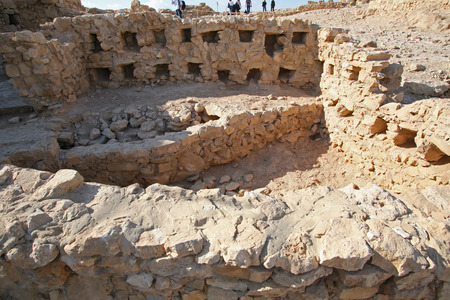Masada fortress in Israel photo