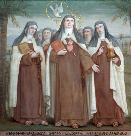 bl: Bl  Anne of Jesus, Saint Teresa of Avila and Bl  Anne of St  Bartholomew, Carmelite Saints, The Church Stella Maris, Haifa, Israel